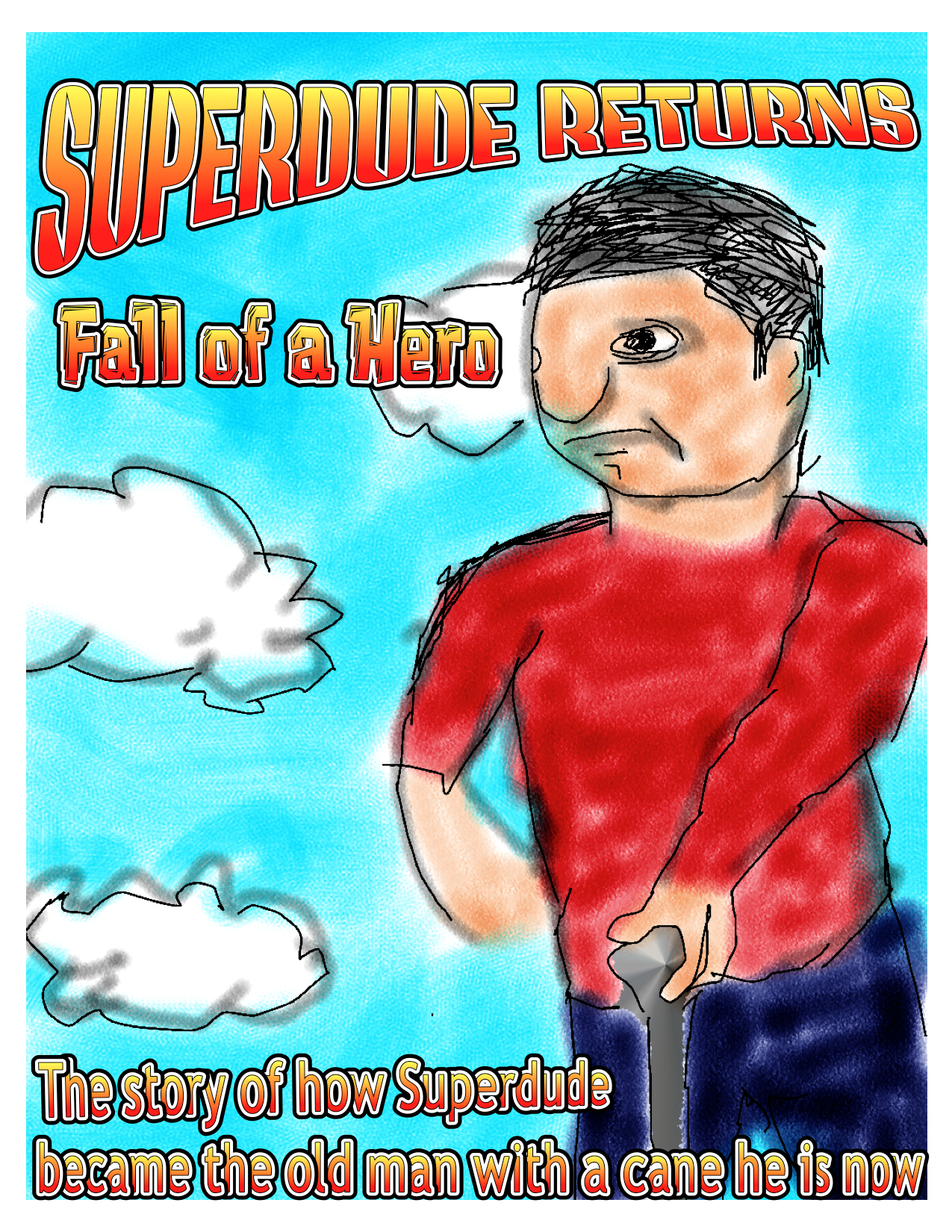 Superdude Returns: Fall of a Hero – Cover