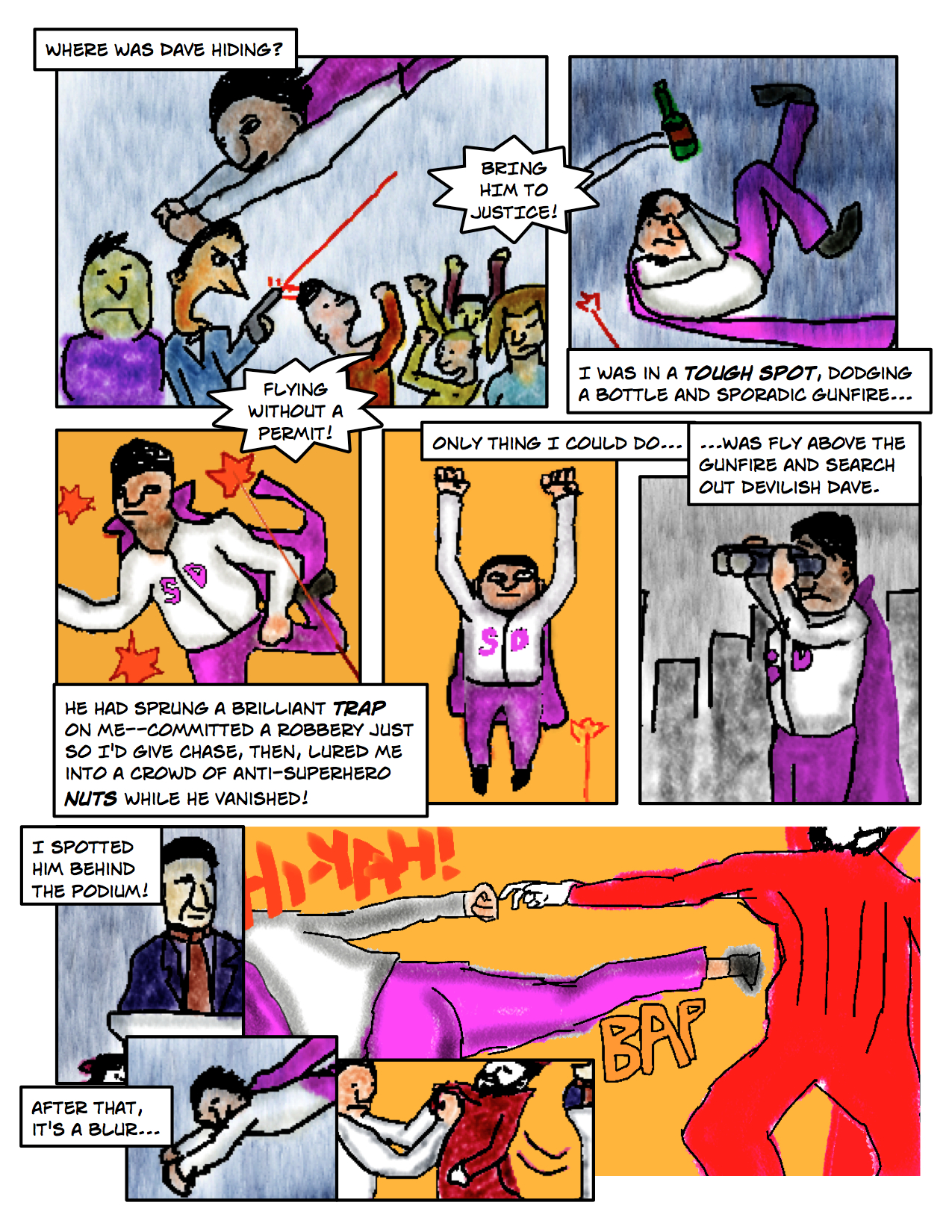 "Superdude Returns: Fall of a Hero – Page 11 ""Anti-Superhero Nuts"""