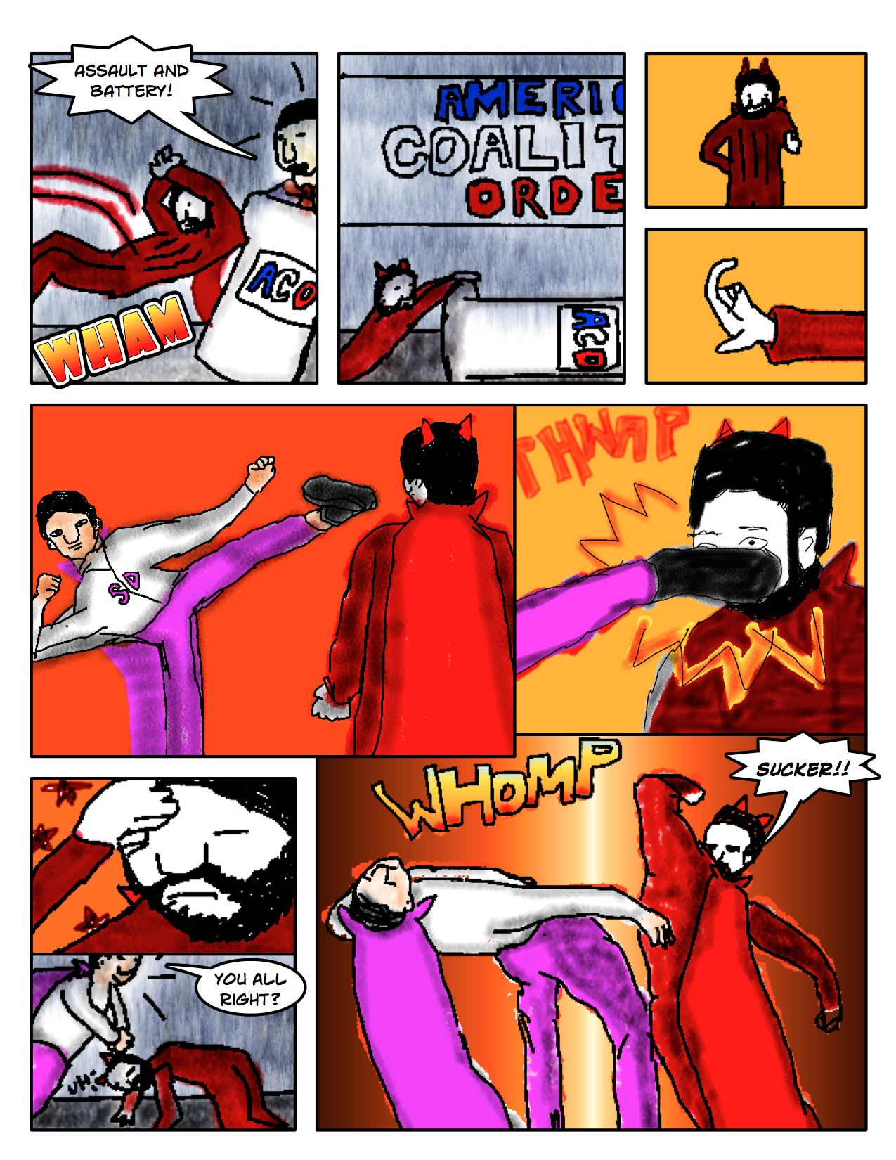 """Superdude Returns: Fall of a Hero – Page 12 """"Fight!"""""""