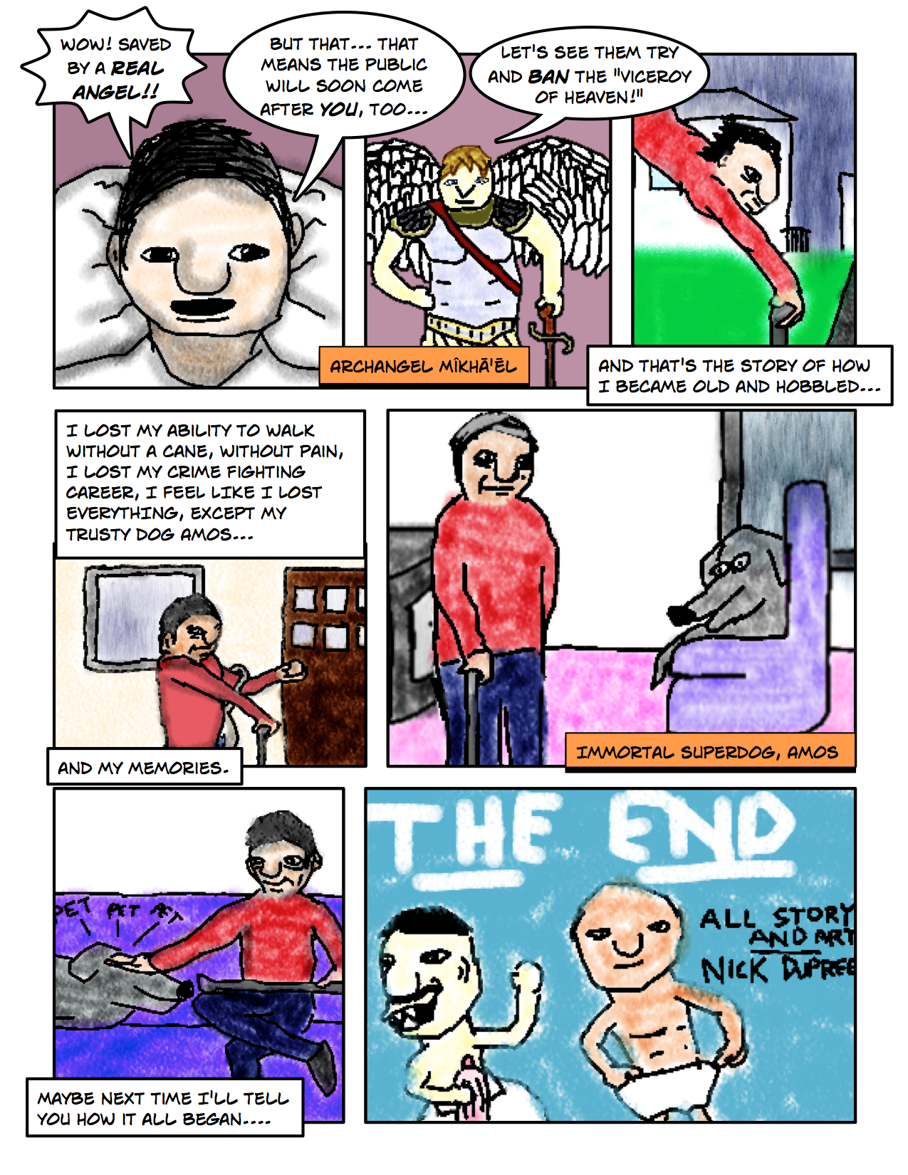 "Superdude Returns: Fall of a Hero – Page 15 ""The End"""