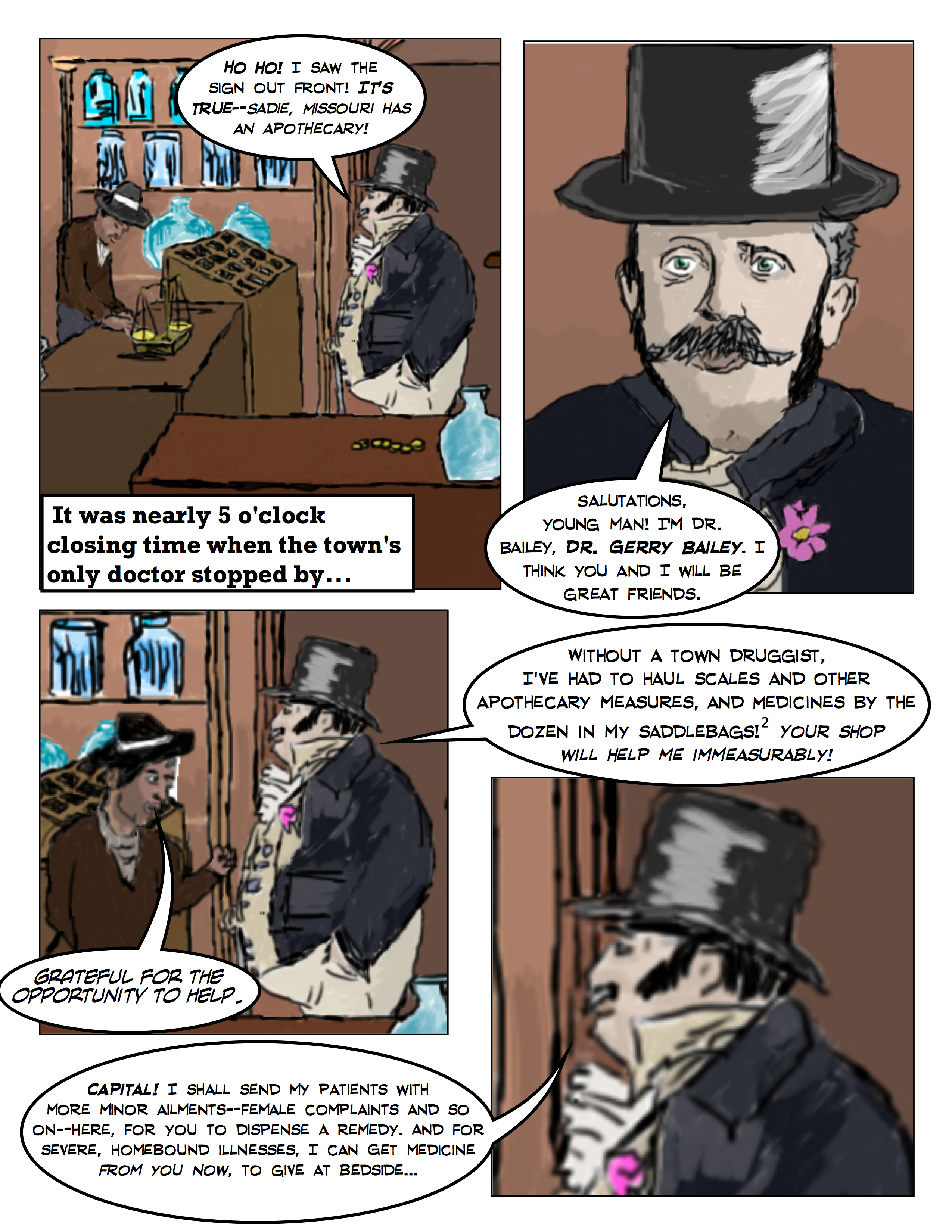 Wild West Apothecary: Saul's First Day As A Pharmacist 3