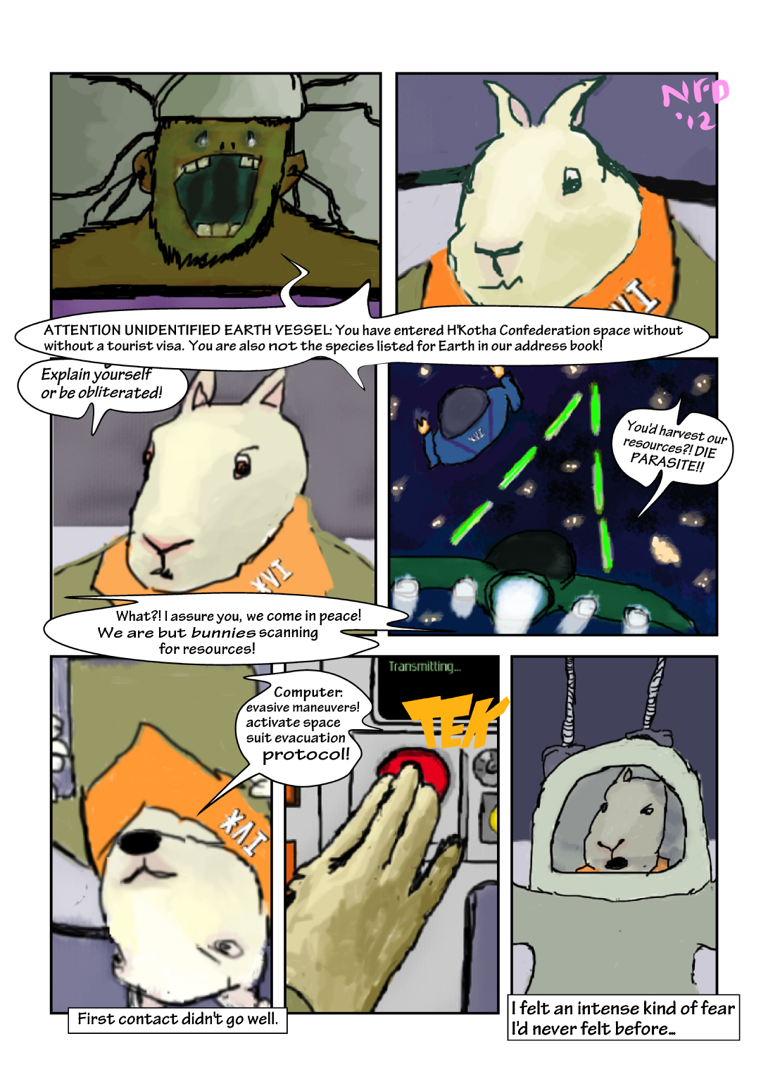Bunnies in Space: The Beginning – First Contact