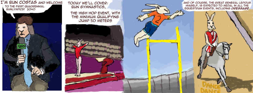 Bunnies in Space: Bonus Material – Bun Costas Covers The First Bunlympics