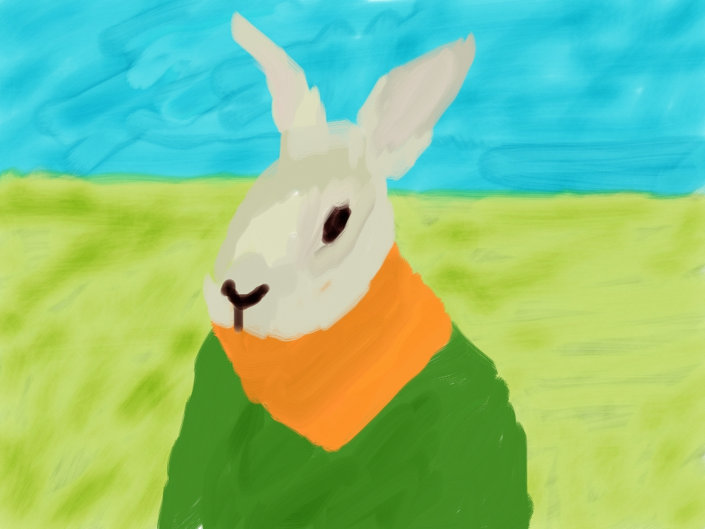 Nick's bunny paintings