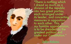 John Adams dividing into political parties