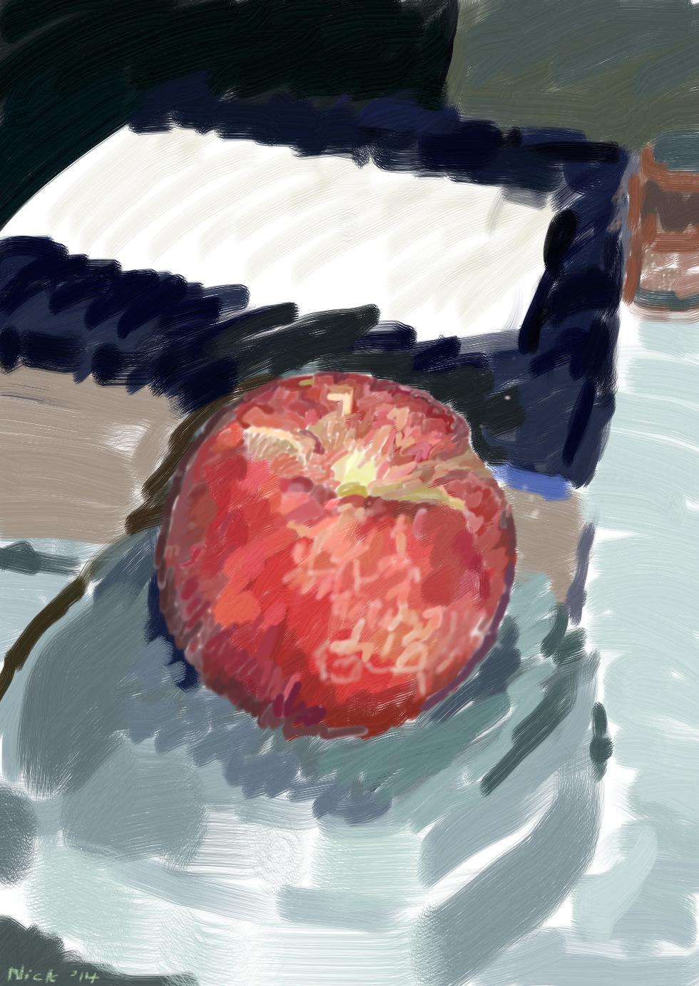 Still life with late May Peach 2014