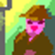 Bun detective pixel art 192